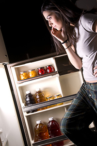 She Gets Into The Fridge